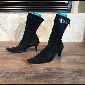 Faddist Real Suede Ankle Boots, Size 8